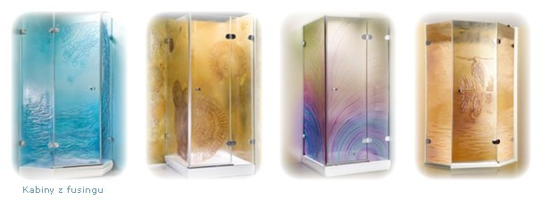kabin prysznicowe z fusingu