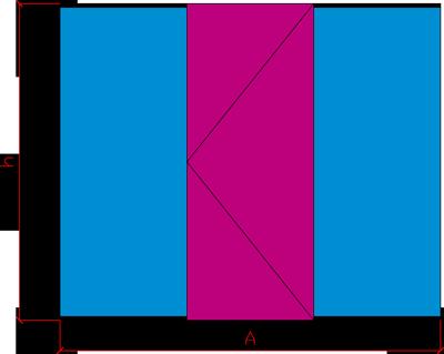 Ściana szklana - drzwi centralne max