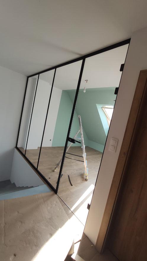 szklane ściany działowe, ściany działowe zeszkła